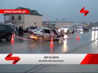 """""""KamAZ"""" minik maşınını əzdi, iki gənc öldü"""